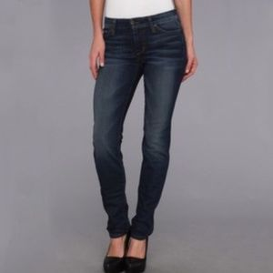 Joe's straight leg Judy dark wash mid rise jeans